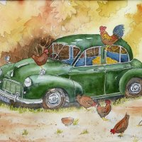 Morris minor henhouse II