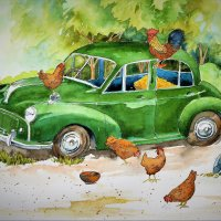 Morris Minor hen house
